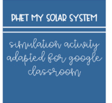 PhET My Solar System Google Doc/Google Classroom (NGSS Aligned)
