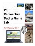 PhET Radioactive Dating Game Lab