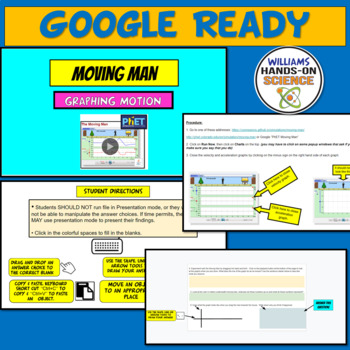 PhET Simulation: Moving Man Graphing Motion Online Lab