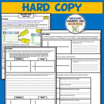 Distance Learning MS-PS2-2: PhET Simulation: Moving Man Graphing Motion Activity