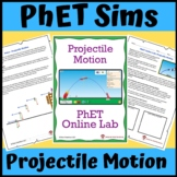 PhET Simulation: Projectile Motion Online Lab (Distance Learning)