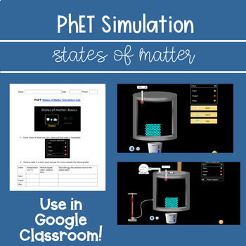 PhET States of Matter Simulation (For MS-PS1-1)