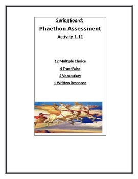 Phaethon Test: SpringBoard Unit 1