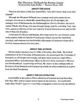Phantom Tollbooth Literature Guide