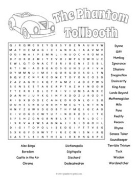 Phantom Tollbooth Word Search