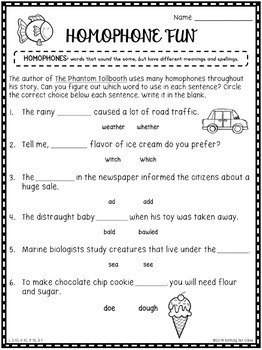 The Phantom Tollbooth: Reading Response Activities and Projects