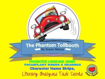 Phantom Tollbooth: Idiomatic Expressions, Vocab, Character Cards, & Literary TC