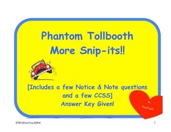 Phantom Tollbooth Snip-its