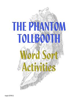 Phantom Tollbooth Word Sort Activities