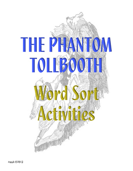 Phantom Tollbooth Word Sort Activities