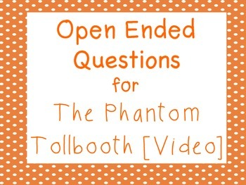 Phantom Tollbooth: Open-Ended Prompt