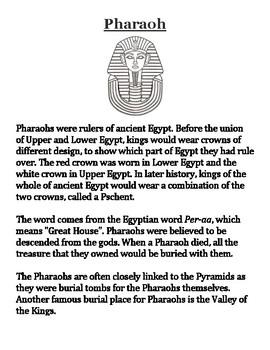 Pharaoh Handout