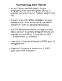 Pharmacology Math Practice, Part II