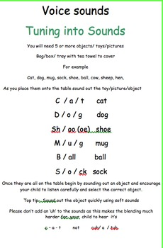 Phase 1 phonics home to school EYFS