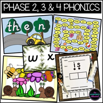 Phase 2, 3 & 4 High Frequency Word Games Bundle