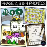 Phase 2, 3 and 4 Phonics High Frequency Word Games Bundle