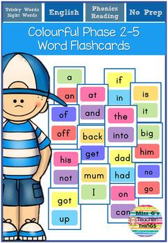 Phase 2-5 word flashcards