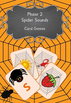 Phase 2 Spider Sounds Card Games By Funky Phonics Tpt