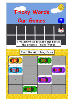 Phase 2 Tricky Words Cars - Smart Notebook Bundle