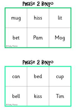 Phase 2 - Whole Class Bingo