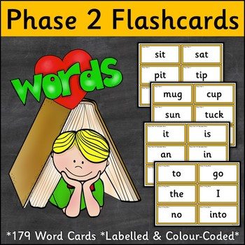 Phase 2 Word Flashcards {UK Teaching Resource}