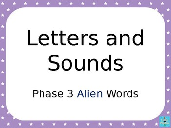 Phase 3 - Alien Word PowerPoint