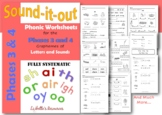 Phase 3 Letters and Sounds Phonic Diagraph Worksheets
