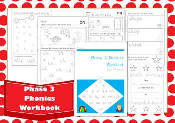Phase 3 Letters and Sounds Phonics Workbook