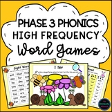 Phonics Phase 3 Letters and Sounds High Frequency Word Activities