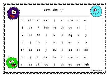 Phase 3 Phonics Phoneme Hunt Visual Discrimination Worksheets