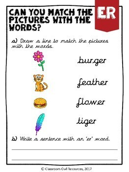 Phase 3 Phonics Workbook - 'er' sound