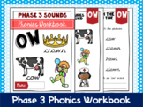 Phase 3 Phonics Workbook - 'ow' sound
