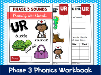 Phase 3 Phonics Workbook - 'ur' sound