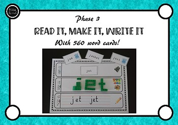 Phase 3 Read it Make it Write it! 540 Word Cards to Cover All Phase 3 Sounds!