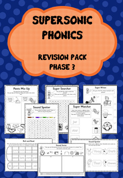 Phase 3 Revision Pack - Supersonic Phonics