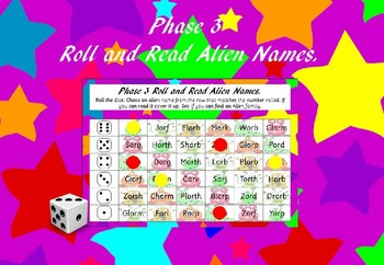 Phase 3 - Roll and Read Alien Names