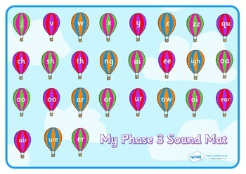 Phase 3 Sound Mat on Hot Air Balloons