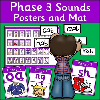 Phase 3 Sounds Posters and Mat {UK Teaching Resources}