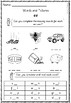 Phase 3 - Words and Pictures Worksheets