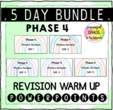 BUNDLE Letters and Sounds Phase 4 Phonics Revision Warm Up