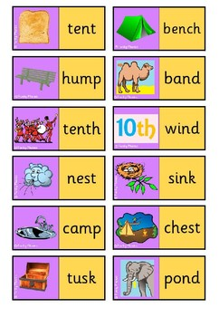 Phase 4 Picture Word Dominoes