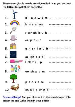 Phase 4 Polysyllabic Words Worksheet