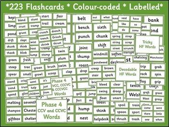 Phase 4 Word Flashcards {UK Teaching Resources}