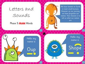 Phase 5 - Alien Word PowerPoint