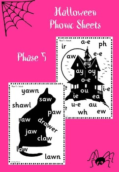 Phase 5 - Halloween Phonic Sheets
