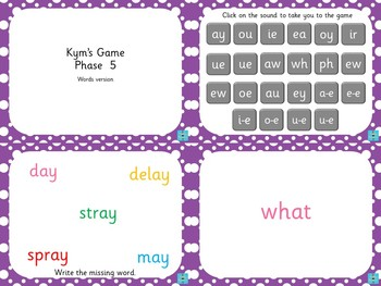 Phase 5 - Kym's Game (Words Version)
