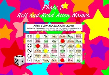 Phase 5 - Roll and Read Alien Names