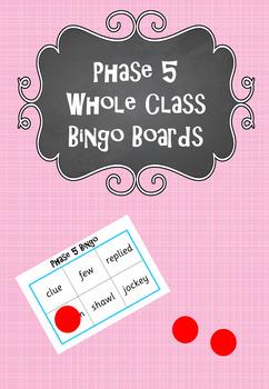 Phase 5 - Whole Class Bingo