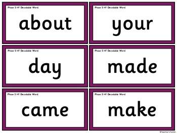 Phase 5 Word Flashcards {UK Teaching Resources}