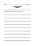 Phase Autobiography Prewriting Activity
